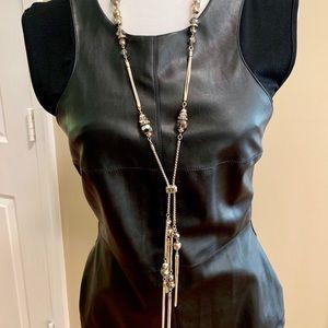 White House Black Market Long Tassel Necklace